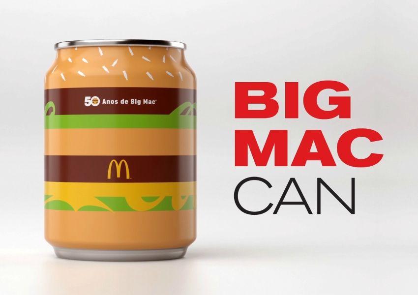 Em ação desenvolvida pela DPZ&T, Big Mac tem latinha personalizada pela Coca em seus 50 anos