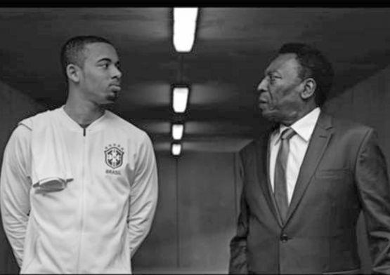 Pelé aconselha Gabriel Jesus em novo filme da Vivo