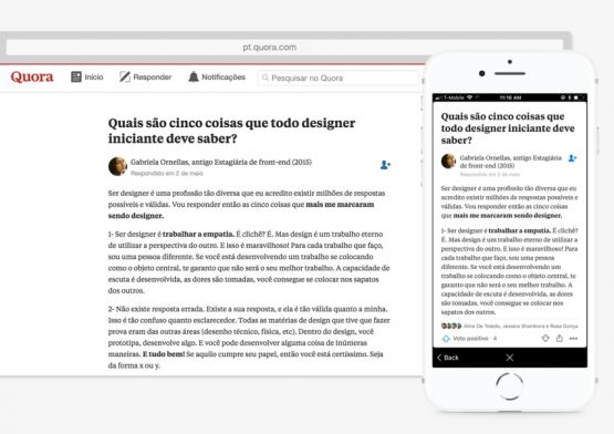 Quora, plataforma de perguntas e respostas, lança serviço em português