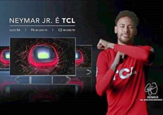 Neymar Jr. entra em campo em campanha da TCL