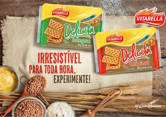 Vitarella apresenta campanha do novo biscoito Delicitá