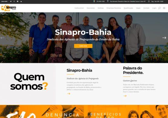 Sinapro-Bahia lança novo site com conteúdo exclusivo e prestação de serviço